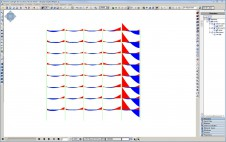 Bending moment diagram during progressive collapse analysis.