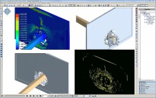 Modeling and simulation of the scenario or scenarios involving potential or actual shattering.
