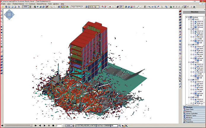 Nonlinear Dynamic Alternative Load Path Analysis of 10-story Concrete Shear Wall Flat Plate Building
