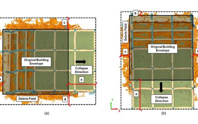 Seismic Debris Field for Collapsed RC Moment Resisting Frame Buildings